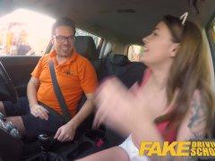 Fake Driving School Spanish kitty cat rides cock