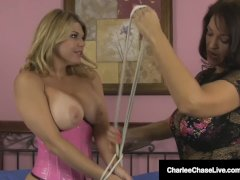 Milf Charlee Chase Binds & Fucks Submissive Slut Carissa!