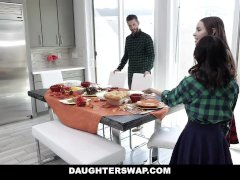 DaughterSwap - Thanksgiving Dinner Turns Into Daughter Fuck Fest