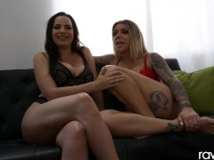 Hardcore threesome With hot tattooed Milfs, Interview - RawAttack