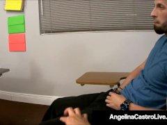 Ms. Angelina Castro Sucks Cock In Class w/ Tara Lynn Holmes!