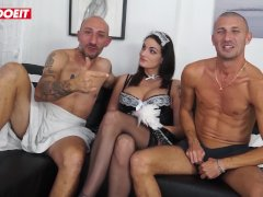 LETSDOEIT - Hot Maid Fucked Hard By Massive Cocks At Casting