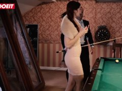 LETSDOEIT - Cute RedHead Teen Gets Creampied On Pool Table