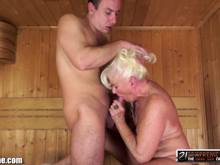 21sextreme horny granny rides young studs throbbing cock 7