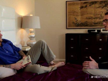 NextDoorTwink Twink Caught Watching Gay Porn
