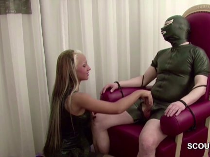 German Hot Teen Femdom Fuck older Man