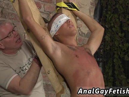 Gay slave bondage Slave Boy Made To Squirt