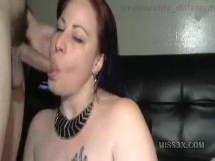 Mature deepthroat blowjob