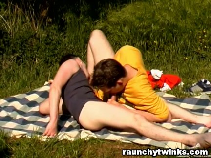 Gay Twinks Doing 69 Blowjob Outdoors