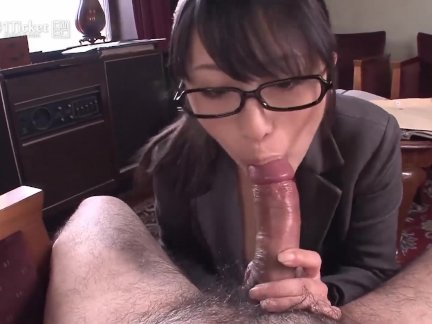 Nana Kunimi Sucks Boss Cock (Uncensored JAV)