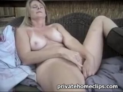 Mature solo outside