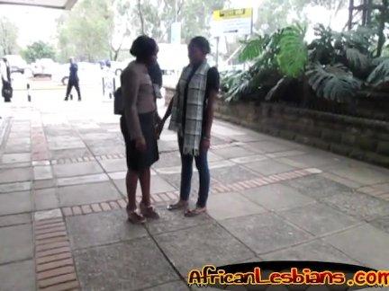 Ebony vixens having lesbian sex
