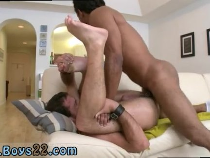 Chubby gay men swallowing creamy cum and