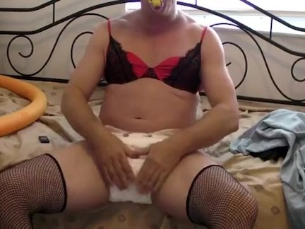 diapered sissy cowboy anal stretching