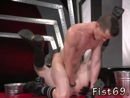 Chubby gay men of eating cum first
