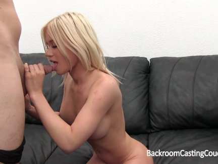 Big Tit Amateur Creampie on Casting Couch