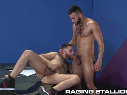 RagingStallion Hairy Hunks Eat Ass and Fuck