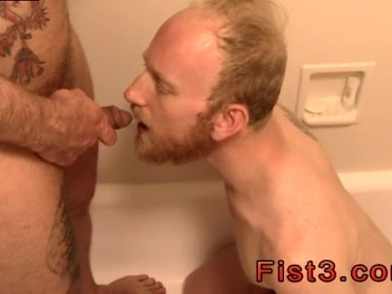 Gay male bondage and stripping first