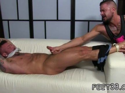 Naked male foot tube and black male foot