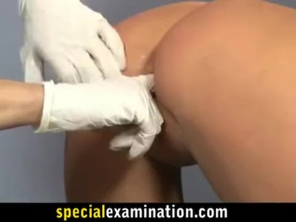 Hot blonde babe gets special medical check-up