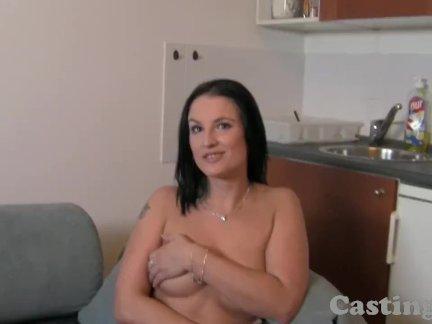 Big boob amateur plays hard to get