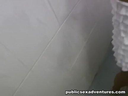 Public bathroom for a blowjob