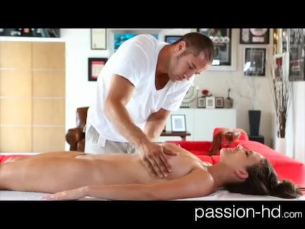 Sensual massage and doggy-style makes her smile