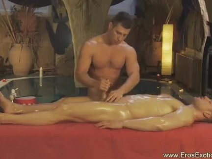 Intimate penis massage for him