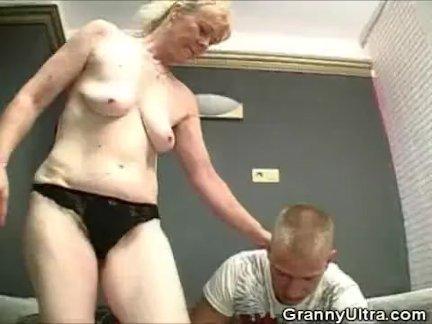 Oldie Sucking On A Hard Schlong