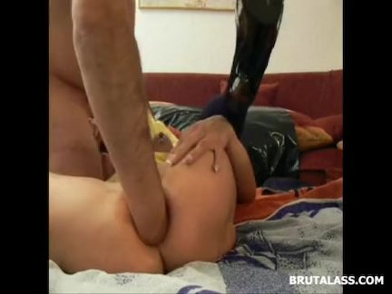 Ass being fisted until a squirting prolapse