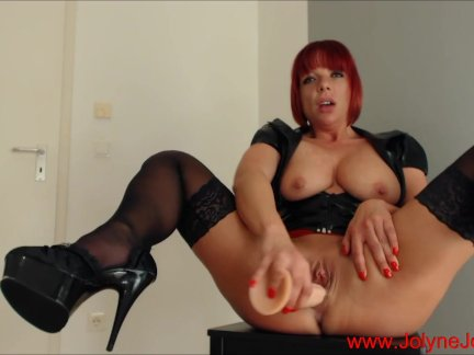 Redhead Fetish Lady masturbate with a dildo