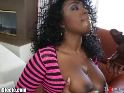 Lexington Steele Blown and Titty Fucks Layton