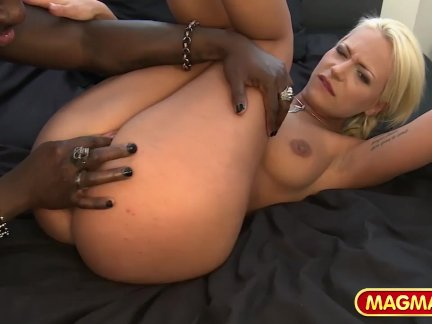 MAGMA FILM Stunning German blonde tasting BBC