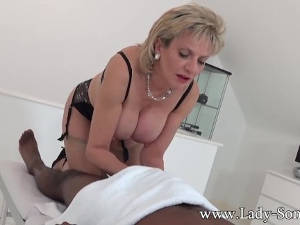 Lady Sonia black guy massage happy ending