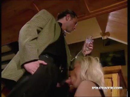 Silvia Saint Sucks a Cock at a Party While Everyone Watches