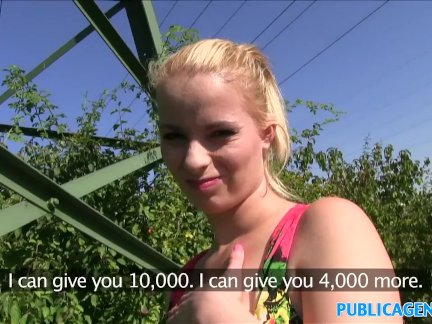 PublicAgent Fit blonde beauty in flower dress fucks stranger for cash