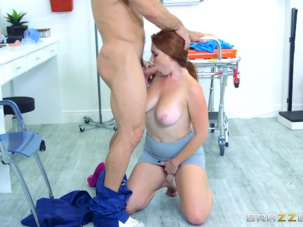 Chubby ginger Lennox Luxe gets pounded - Brazzers