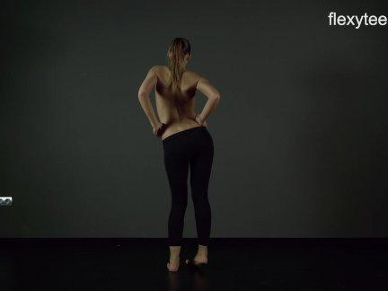 Flexible ariella shows incredible nude gymnastics 8