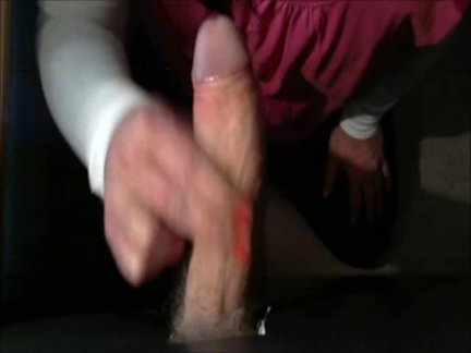 Tranny Sucking Huge Uncut Cock In The Gloryhole