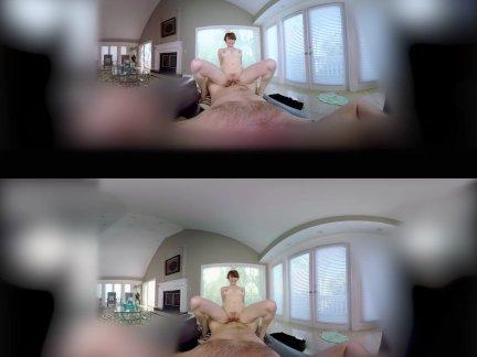 ლ(▀̿̿Ĺ̯̿̿▀̿ლ) Sexo Realidade Virtual Ruiva Pagando Boquete