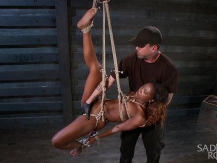Sexy Ebony Slut Begs to be Taken to the Edge.