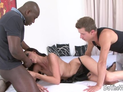 Black Stud Bangs Wife in Front of Wimpy Cuckold