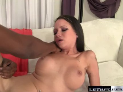Raven fits a giant BBC in her tight little pussy