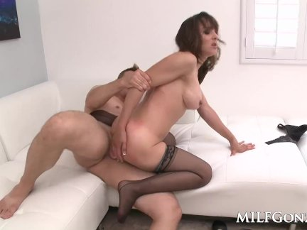 MILFGonzo Cytherea squirting while she fucks a young guy