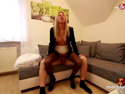 My Dirty Hobby – Blonde slut takes massive facial