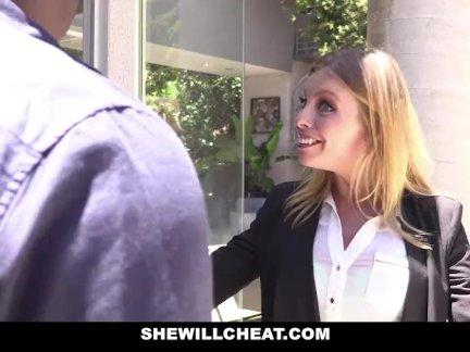 SheWillCheat - Slut Wife Britney Amber fucks famous football players BBC