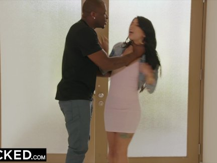 BLACKED Home Alone Sexy Teen Latina Hooks Up With BBC