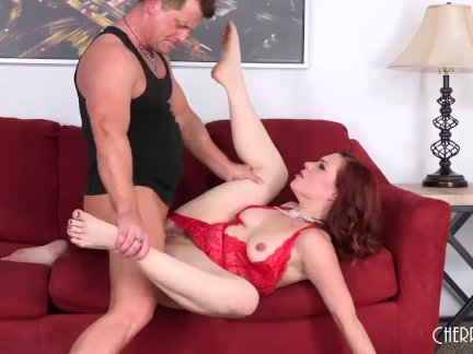 Jessica Ryan Is a Sizzling Red Head in Lingerie Wanting Sex