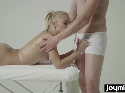 JOYMII - Katy Rose gets dripping wet massage for tight pussy