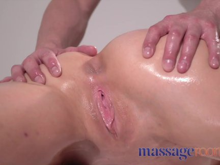 Massage Rooms Beautiful Russian woman squirting after foot massage